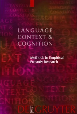 Methods in Empirical Prosody Research