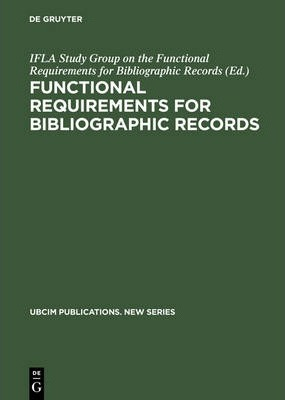 Functional Requirements for Bibliographic Records