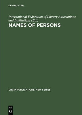 Names of Persons