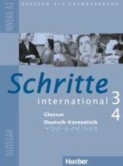 Schritte international 3+4. Niveau A2. Glossar Deutsch-Koreanisch