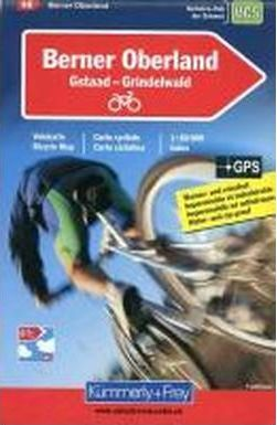 Bernese Oberland Cycle Map Gstaad/Grindelwald