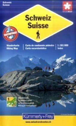 Switzerland Walking Map