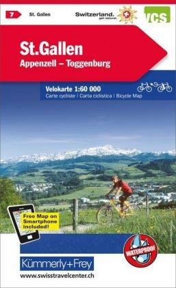 St-Gallen / Appenzell cycle map 2021