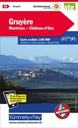 Gruyere / Montreux / Gstaad cycle map 2021