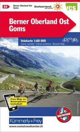 Berner Oberland Ost - Goms cycle map 2021