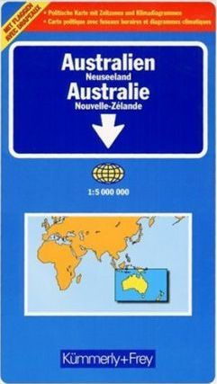 Australia & New Zealand - Political and Road Map, Folded