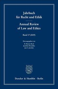 Jahrbuch Fur Recht Und Ethik / Annual Review of Law and Ethics