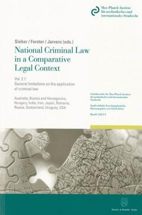 National Criminal Law in a Comparative Legal Context. Vol. 2.1.