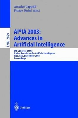AI*Ia 2003: Advances in Artificial Intelligence