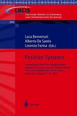 Positive Systems: Theory and Applications