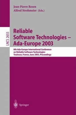 Reliable Software Technologies -- ADA-Europe 2003