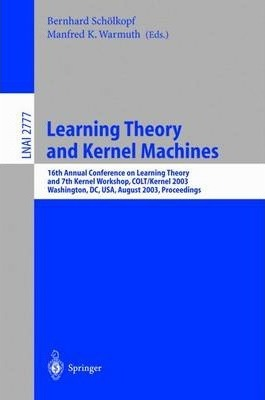 Learning Theory and Kernel Machines