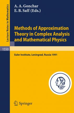 approximation theory and methods  Methods of Approximation Theory in Complex Analysis and Mathematical ...