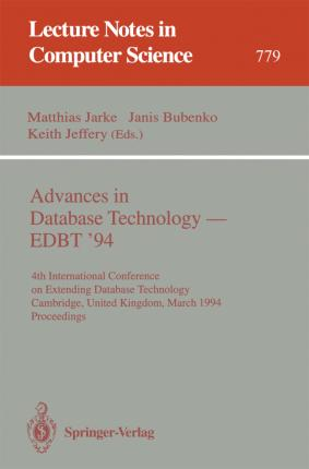 Advances in Database Technology - EBDT '94