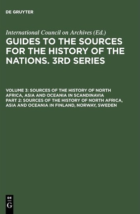 Sources of the History of North Africa, Asia and Oceania in Finland, Norway, Sweden