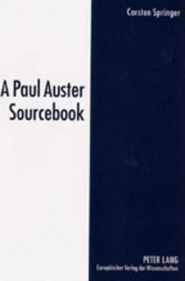 A Paul Auster Sourcebook Cover Image
