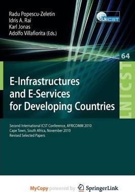 E-Infrastuctures and E-Services for Developing Countries