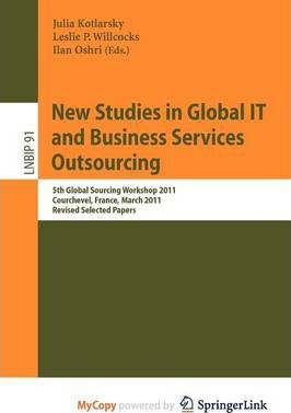 New Studies in Global It and Business Service Outsourcing