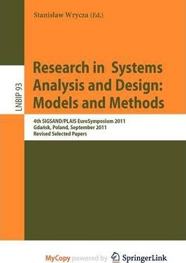 Research in Systems Analysis and Design