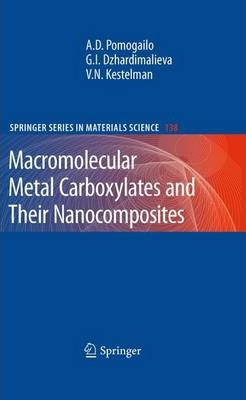 Macromolecular Metal Carboxylates and Their Nanocomposites