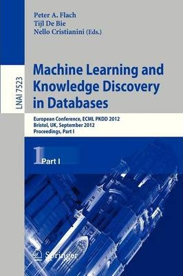 Machine Learning and Knowledge Discovery in Databases: Part I