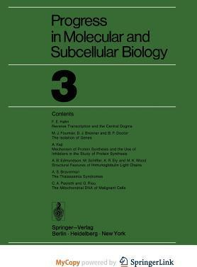 Progress in Molecular and Subcellular Biology 3