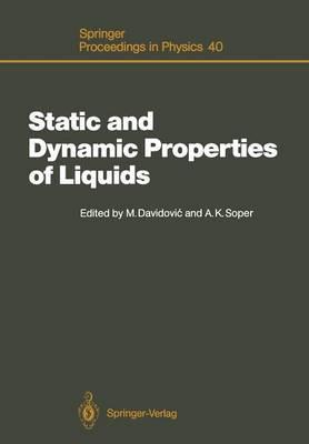 Static and Dynamic Properties of Liquids