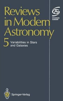 Reviews in Modern Astronomy