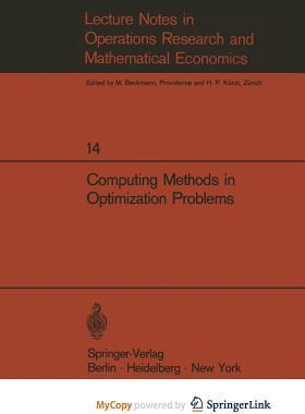 Computing Methods in Optimization Problems