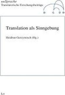 Translation als Sinngebung