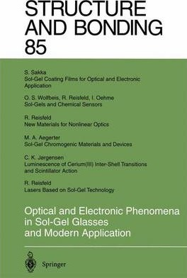 Optical and Electronic Phenomena in Sol-Gel Glasses and Modern Application