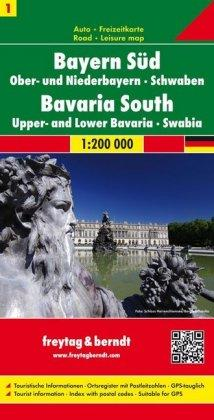 Bavaria South - Upper Bavaria and Lower Bavaria - Swabia Sheet 1 Road Map 1:200 000