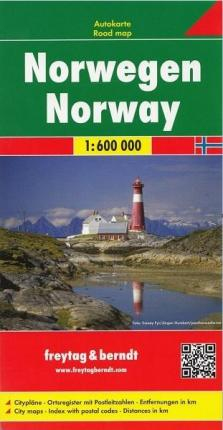 Norway Road Map 1:600 000