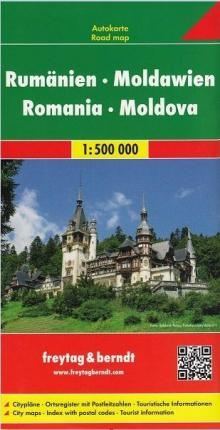 Romania - Moldova Road Map 1:500 000