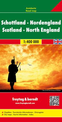 Scotland - North England Road Map 1:400 000