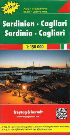Sardinia - Cagliari Road Map 1:150 000