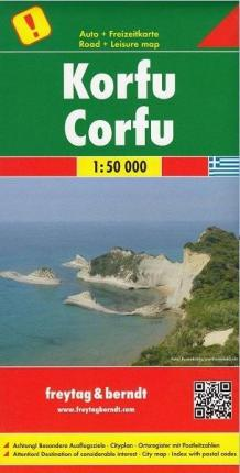Corfu, Special Places of Excursion Road Map 1:50 000