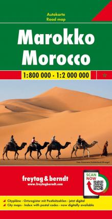 Morocco Road Map 1:800 000 - 1:2 000 000
