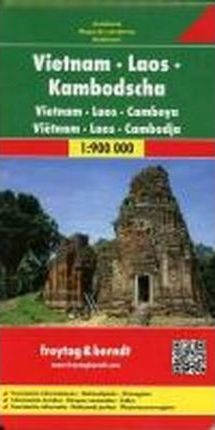 Vietnam - Laos - Cambodia Road Map 1:900 000