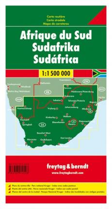 South Africa Road Map 1:1 500 000