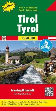 Tyrol Road-,Cycling- & Leisure Map 1:150.000