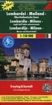 Lombardy - Milan - Lakes in Norhtern Italy Road Map 1:150 000
