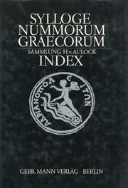 Sylloge Nummorum Graecorum. Deutschland. Index.