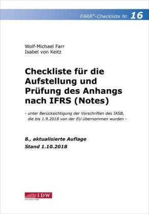 Farr, Checkliste 16 (Anhang n. IFRS), 8. A.