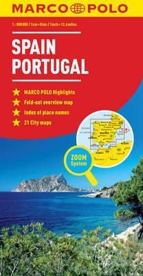 Map Of Coastal Spain.Spain Portugal Map Marco Polo 9783829767262