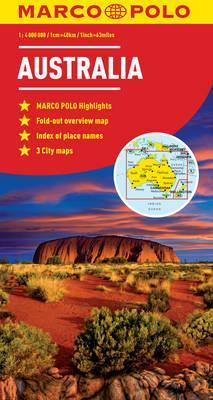 Map Of Australia Natural Features.Australia Marco Polo Map Marco Polo 9783829767460