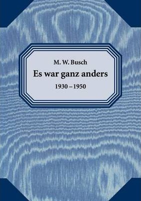 Es War Ganz Anders Cover Image