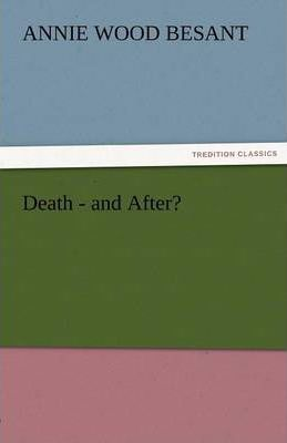 Death-And After? Cover Image