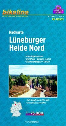 Lueneburger Heide Nord Cycle Map