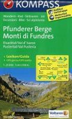 Pfunderer Berge / Monti di Fundres - Eisacktal / Val d'Isarco - Pustertal / Val Pusteria 1 : 25 000
